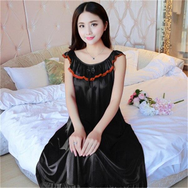 Hot Women Night Gowns Sleepwear Nightwear Long Sleeping Dress Luxury Nightgown Women Casual Night Dress Ladies Home Dressing Z79 14