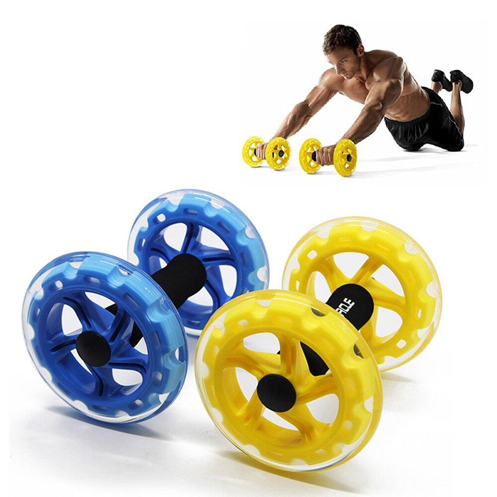 Procircle Ab roues rouleaux d'exercice abdominaux pour entraîneur de base exercice de force Crossfit Gym Fitness corps à deux roues