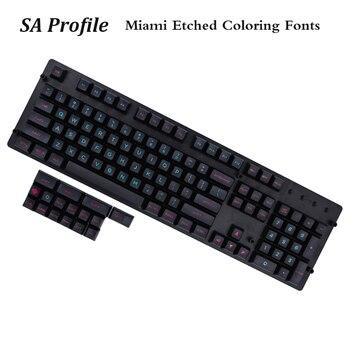 Mp Sa Perfil Pbt Keycap 120 Llaves Miami Grabado Para Colorear Las