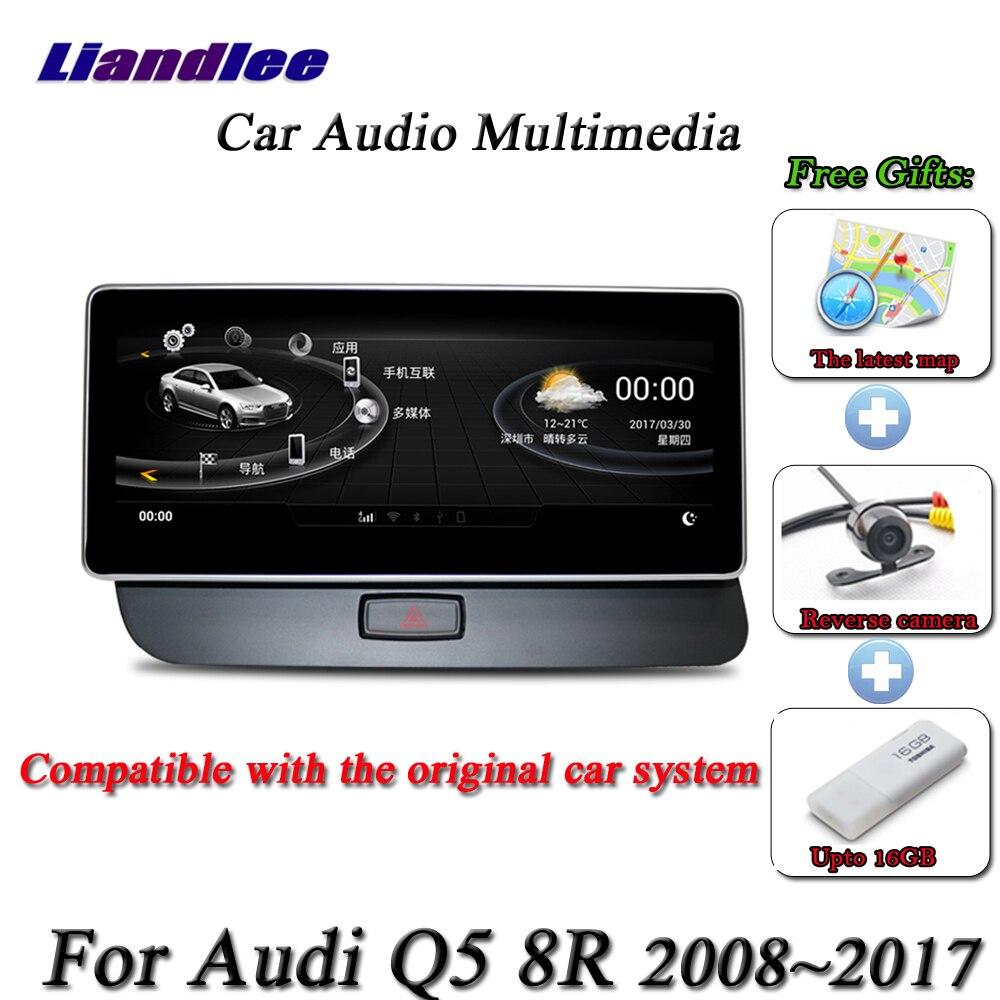 Liandlee pour Audi Q5 8R 2008 ~ 2017-Android système d'origine Radio BT GPS carte Navi Navigation écran multimédia pas de lecteur DVD