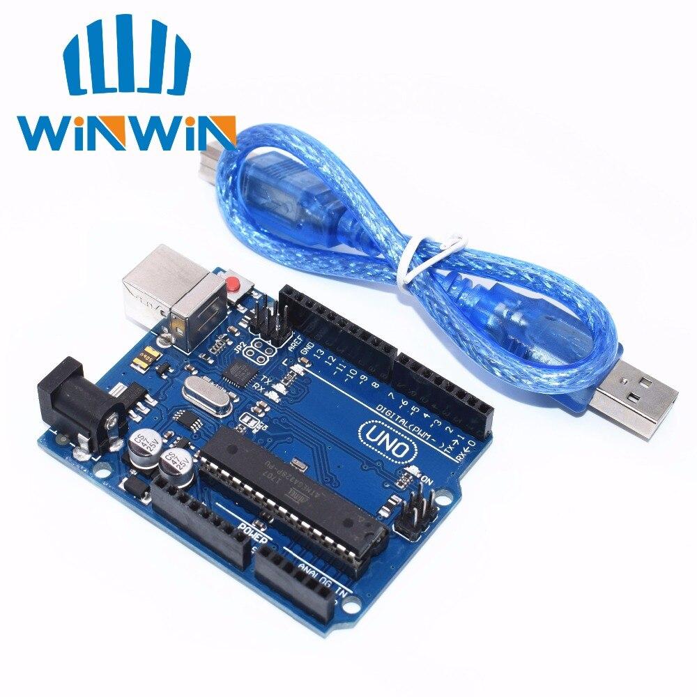 10 セット UNO R3 Arduino の互換 MEGA328P ATMEGA16U2 10 個 UNO R3 + 10 個ケーブル  グループ上の 電子部品 & 用品 からの 集積回路 の中 1