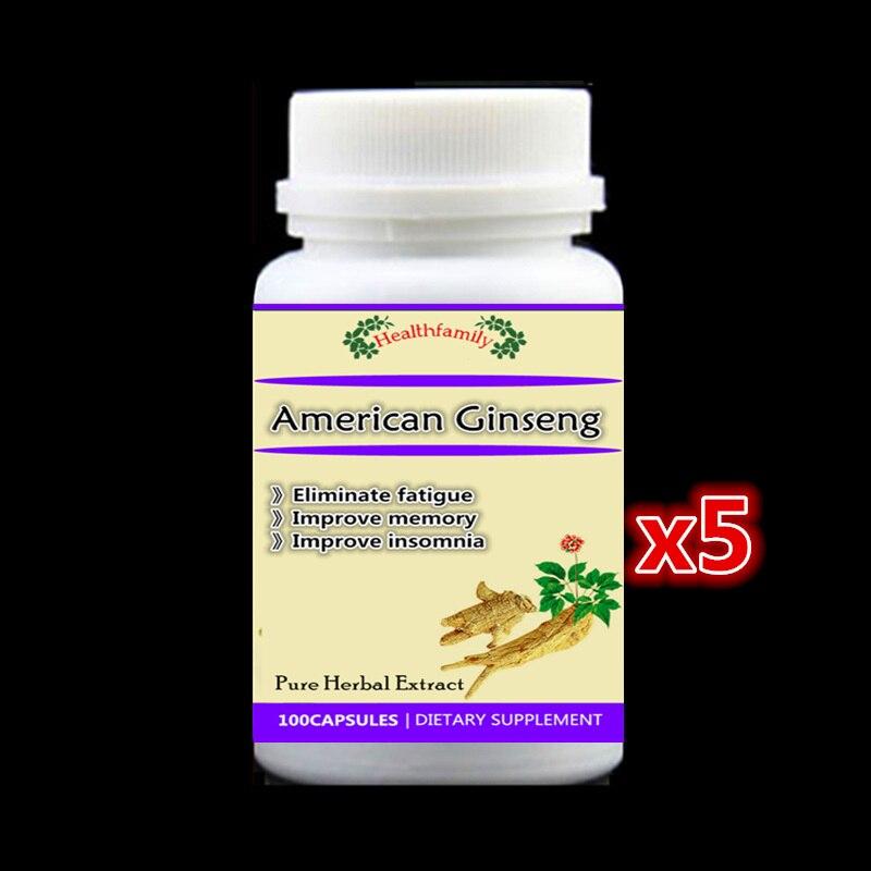 500mg 500pieces American Ginseng Extract Pills Eliminate fatigue Improve memory Improve insomnia стоимость