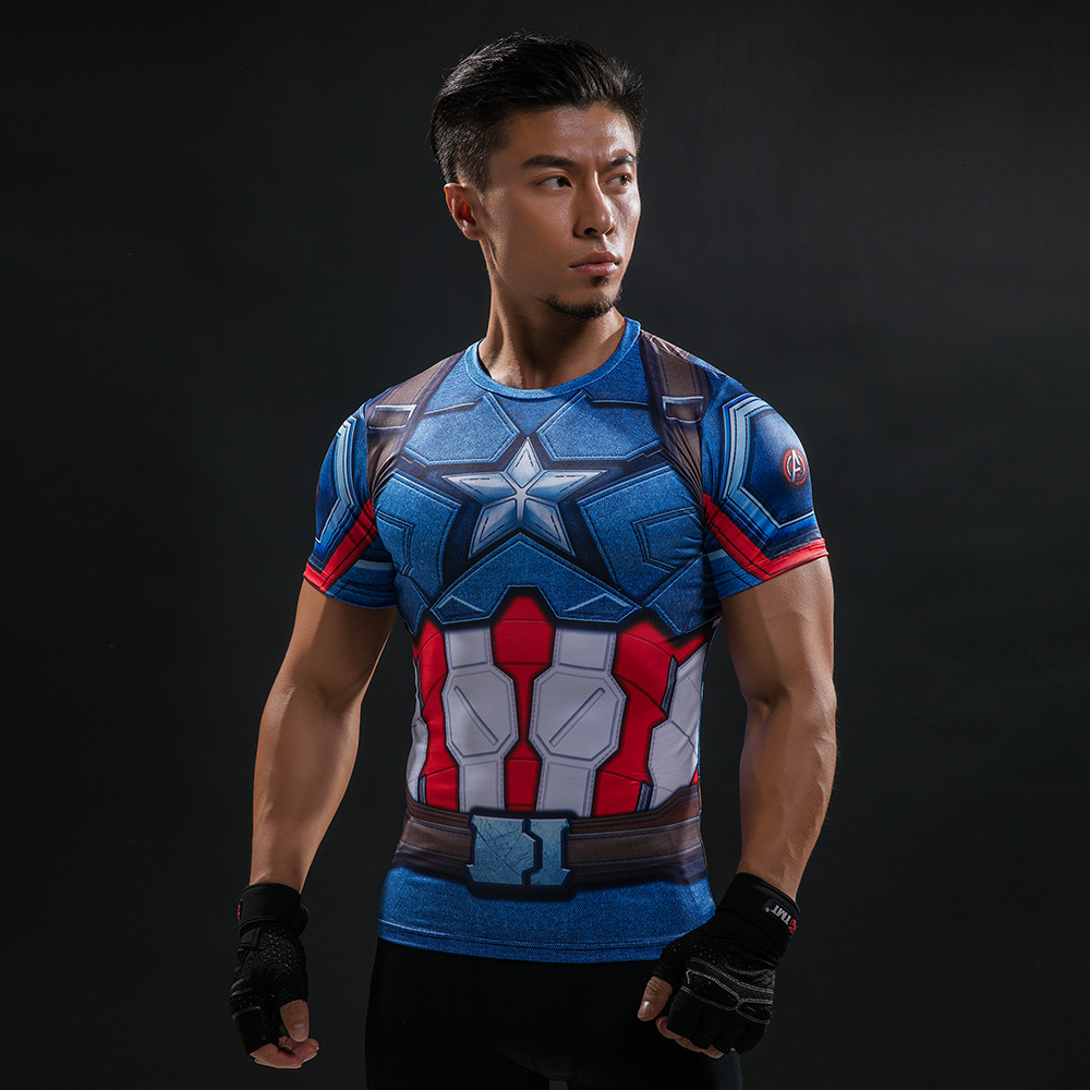 Punisher 3D Printed T-shirts Men Compression Shirts Long Sleeve Cosplay Costume crossfit fitness Clothing Tops Male Black Friday 92
