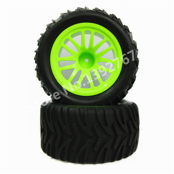 4pcs/lot RC Car Rubber Sponge Tires Tyre Rim Wheel For 1/10 Scale Models Nitro Power Monster Truck RC Car HSP Remote Control Car
