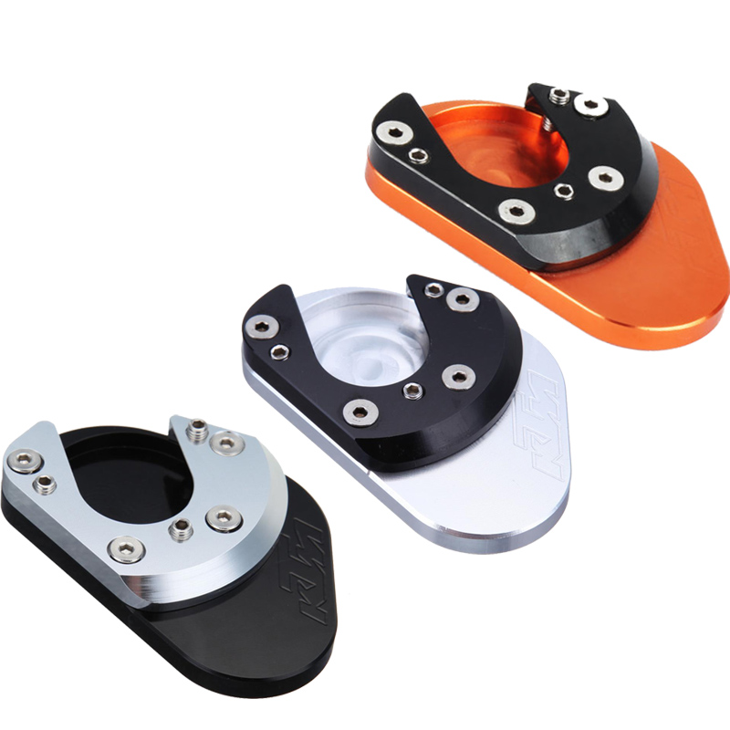 CNC Kickstand Kick Side Stand Extension Foot Pad Plate For KTM 690 950 990 Adventure R S LC8 Enduro Supermoto SM SMC SMR morais r the hundred foot journey