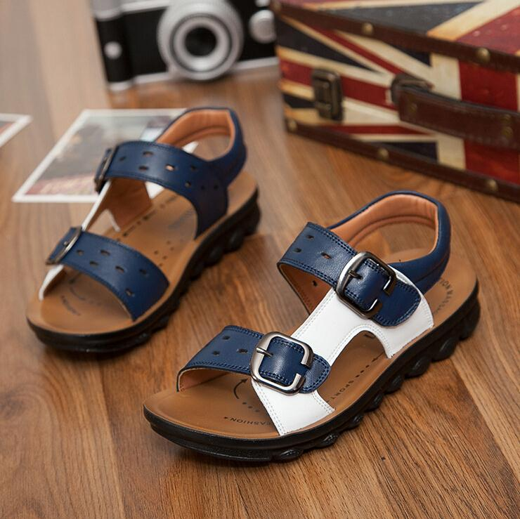 68951b33b9e82 2018 summer childrens shoes boys genuine leather sandals kids footwear real  leather shoes cow cattle leather ...