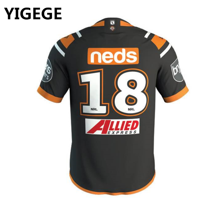 08c4629d856 Detail Feedback Questions about YIGEGE Custom names and numbers nrl Jersey  2019 WESTS TIGERS home Rugby jerseys League shirt Wests Tigers shirts on ...