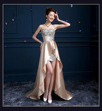 2015 Sweet Crystals Sequined High/Low Bridesmaid Dresses Sweetheart Satin Floor-Length Bridesmaid Gowns Long Bridesmaid Dresses
