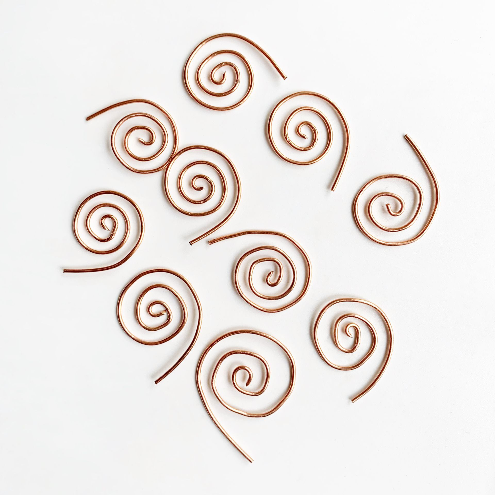 10pcs Brass Copper Wire Coil Spiral Snail Coil For Orgone Energy Projects DIY Accessories Home Decoration Accessories Modern
