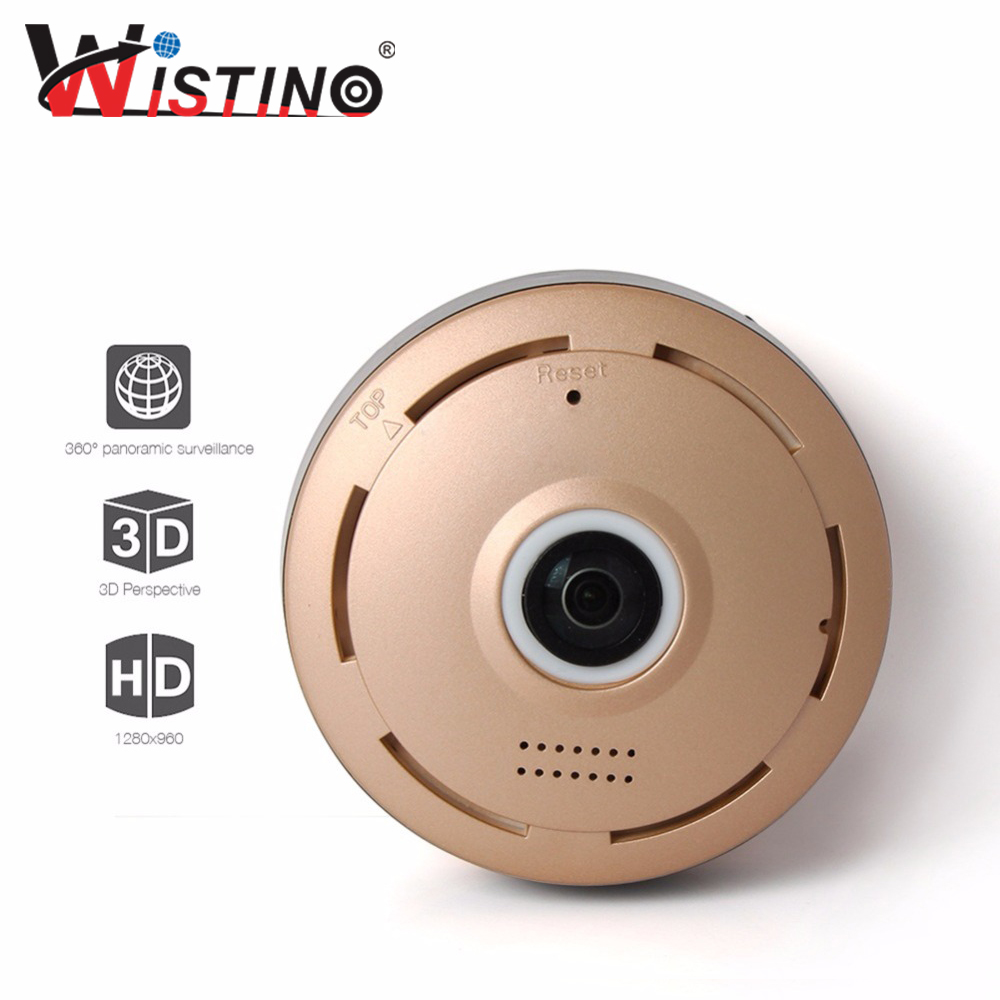 ФОТО 960P HD WIFI Camera 360 Degree Fisheye Wireless CCTV Smart Home Security P2P Full View Monitor Wistino Surveillance Free Shippin