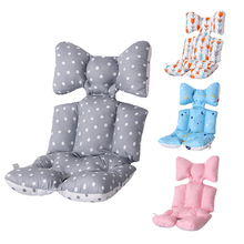 Printed Baby Stroller Cushion Thicken Warm Pad Mattresses Pillow Cover Child Pram Seat Soft Cotton Accessories