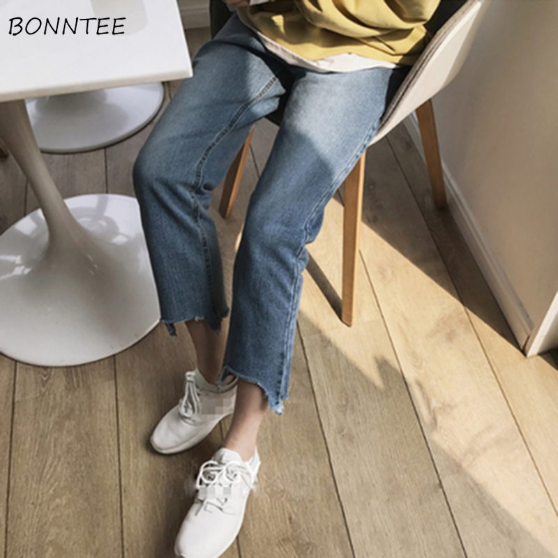 Jeans Women Spring Summer Trendy All-match Korean Style Simple Ulzzang High Quality Soft Elegant Womens Trousers Chic Casual