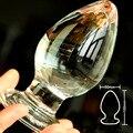 Большой кристалл pyrex стекло фаллоимитатор анальные шарики анальная пробка влагалище мяч мужской пенис мастурбатор взрослый продукт секс-игрушки для женщины мужчины гей