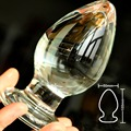 Large crystal butt plug vagina ball pyrex glass anal beads dildo male penis masturbator adult product sex toys for women men gay