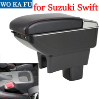 for Suzuki Swift armrest box universal car center console caja modification accessories double raised with USB