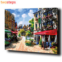 DIY Digital Canvas Oil Painting By Numbers Pictures Coloring By Numbers For Adults Acrylic Paint By