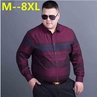 10XL 8XL 6XL 5XL 4XL Men Shirt Brand 2017 Male Large Size Long Sleeve Shirts Casual