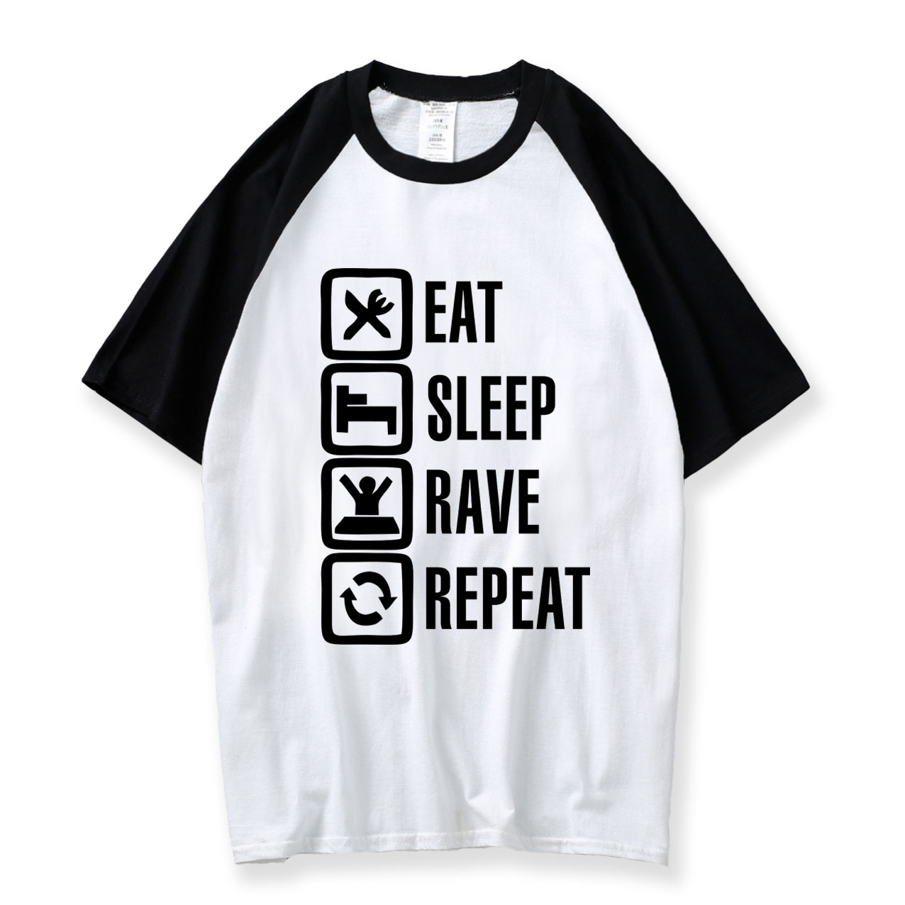 Eat Sleep Game Men T Shirts Raglan Sleeve T Shirt 2018 Summer Casual College Male T-shirt Round Neck Mens Tshirt Free Shipping