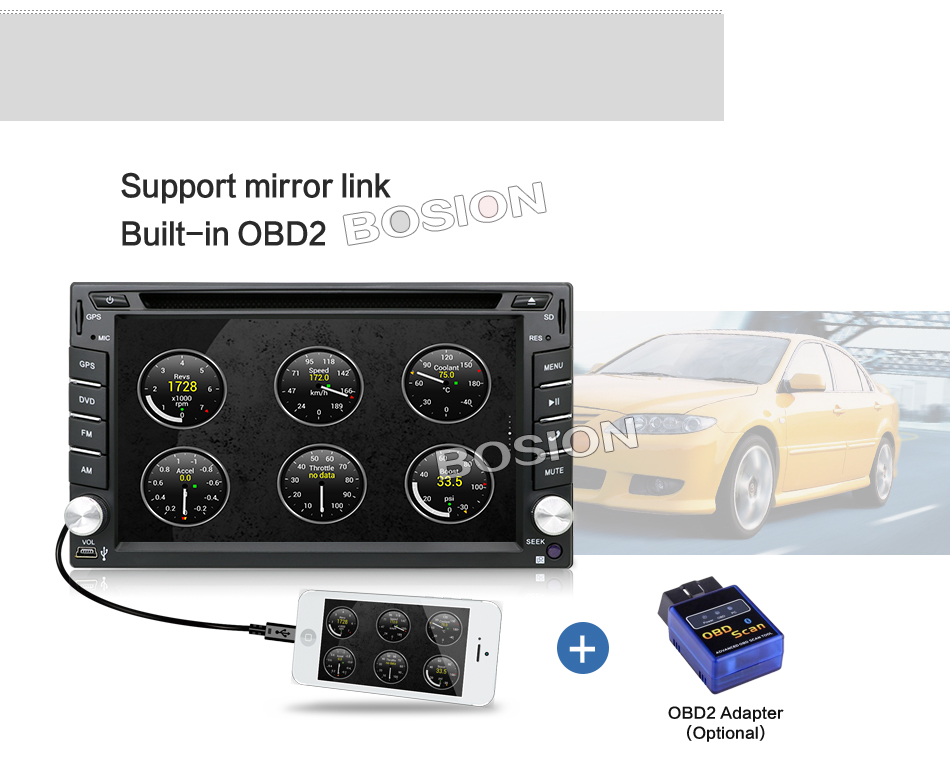 Excellent Android 7.1 Quad Core With Car DVD Player GPS Navi For Toyota RAV4 Corolla Hilux For Universal Car Radio Touch Screen Car Stereo 19