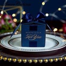 20 pcs งานแต่งงานโปรดปรานของขวัญกล่องขนมสำหรับ Christening Baby Shower วันเกิดซัพพลายพรรคห่อด้วยริบบิ้น