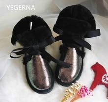 2016 Australia Al Por Mayor/al por menor de Alta calidad de Las Mujeres Clásicas Botas de Nieve estilo medio botas de invierno para mujer de piel de Oveja real