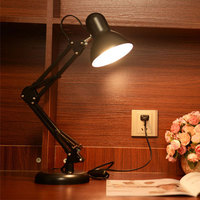 Foldable Desk Lamp Folding LED Table Light Eye Protect Reading Studying Clip Clamp Desk Lights For