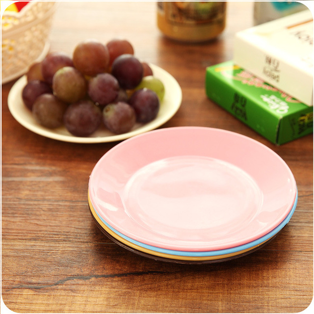 1pc Kitchen Tableware Colorful Plastic Plates Small Dish Creative Fruit Plate Snacks Dish & 1pc Kitchen Tableware Colorful Plastic Plates Small Dish Creative ...