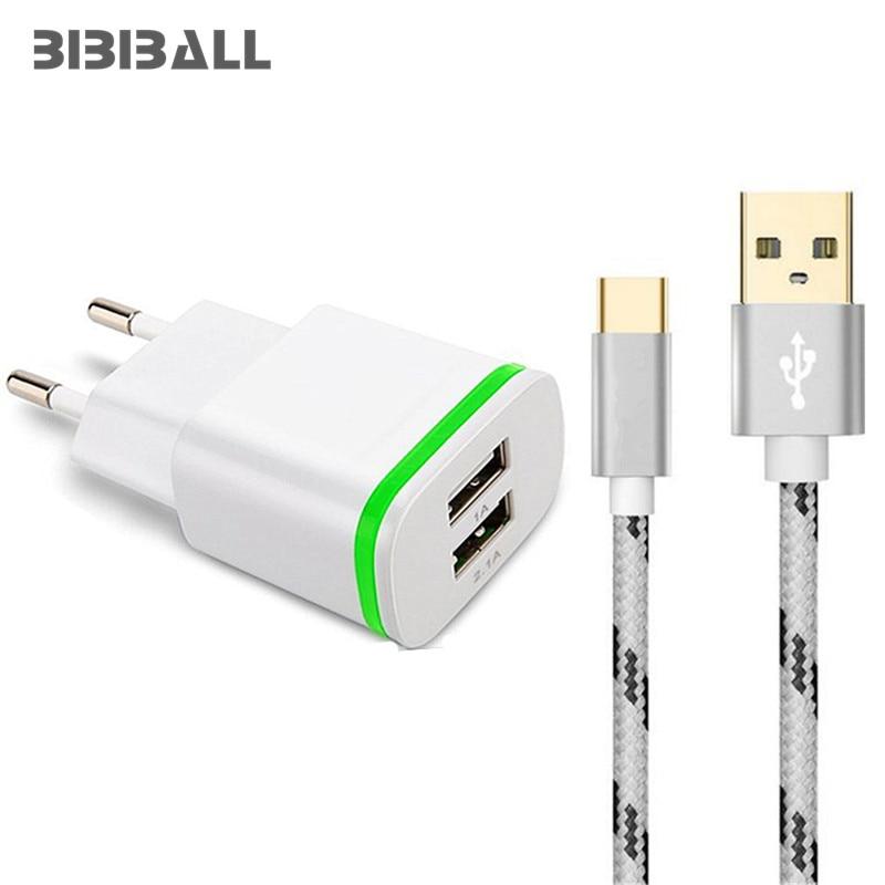 LED Dual USB Type C USB-C Charger EU 5V 2A 2 Ports Fast Charging Adapter for Xiaomi MI a1 mi5 mi6 5s plus 4s 4c max 2 LG G5 G6