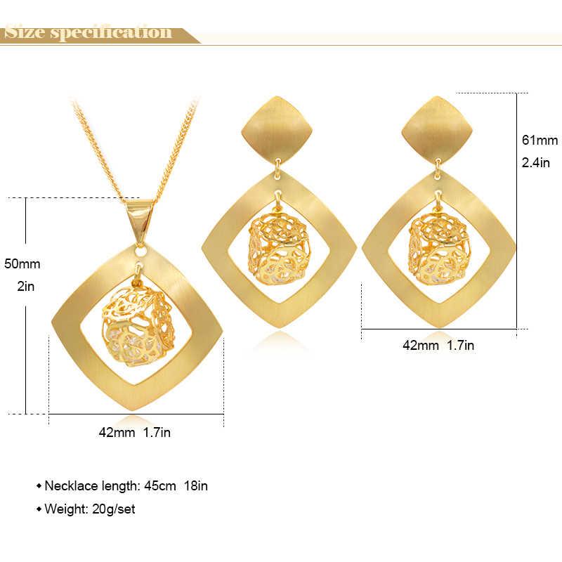 Sunny Schmuck Mode Schmuck 2019 Dubai Hohe Qualität Schmuck-Set Frauen Ohrringe Anhänger Halskette Zirkonia Platz Für Geschenk