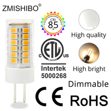 цена на ZMISHIBO High Lumen Ceramic LED G4 Bulb 1.5W 2.5W 3W AC/DC 12V Silica Gel G4 Warm White Cold White Dimmable bulbs 10PCS/Lot