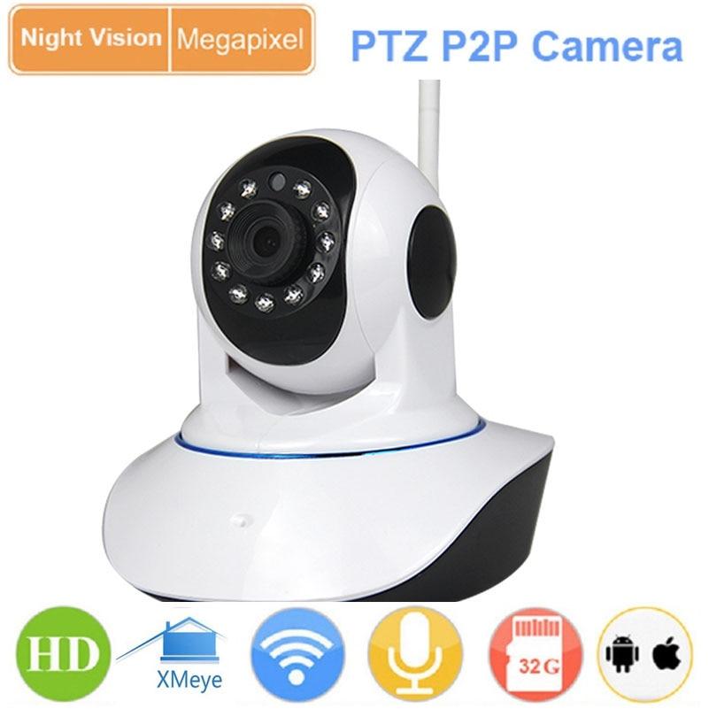 bilder für CCTV 2.0MP 720 P HD 1080 P Drahtlose WiFi Pan Tilt P2P IP kamera IR-CUT Netzwerk P/T Sd-karte Indoor Baby Monitor Webcam IPC kamera