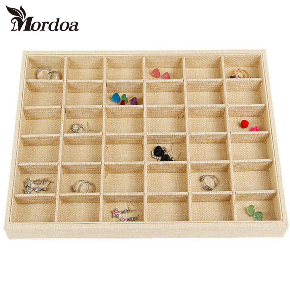 2016 Jewelry Display Case All Sorts of Small Adorn Article Can be Placed Dish Show Case jewelry Show Box 36 Girds Tray2016 Jewelry Display Case All Sorts of Small Adorn Article Can be Placed Dish Show Case jewelry Show Box 36 Girds Tray