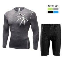 Men Boy Swim Top T Shirt Trunks Boxers Shorts Swimwear Short Pants SwimSuit Swimming Wear Long Sleeves for Beach Spa Pool DEFF