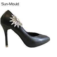 Diy Shoes Flower Charms Bridal High Heel Pumps Accessories Crystal Diamond Shoe Clips Fashion Wedding Decoration