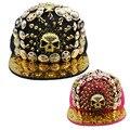 Европейский и Американский панк металлические заклепки Кито шляпа хип-хоп шляпа мужчин и женщин бейсбол шляпы