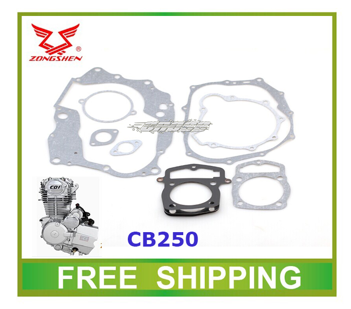 Loncin Zongshen Cb250 Air Cooled Engine Gasket Kayo Dirt Bike Atv Quad 250cc Accessories Free Shipping