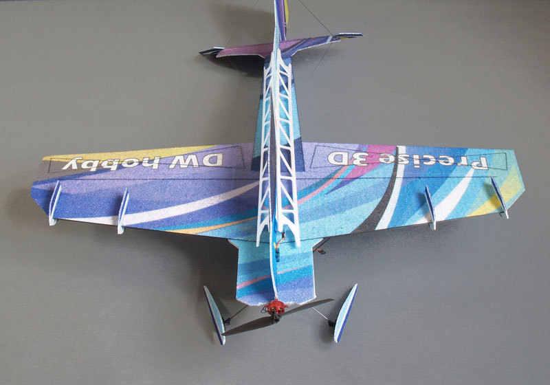 EPP model samolotu 3D precyzyjne 3D samolot rozpiętość skrzydeł 855mm sterowanie radiowe RC model samolotu samolotu