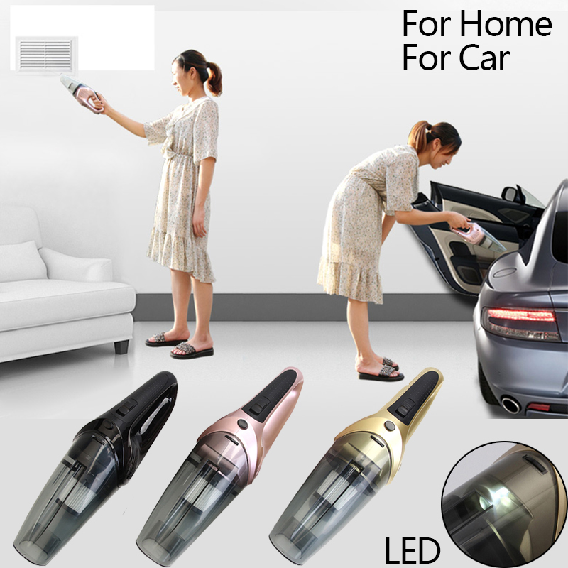 Car Wireless Vacuum Cleaner 120W 220V Charger LED Light Handheld Dry And Wet Portable Cleaning Tool For Home Car Accessories philips brl130 satinshave advanced wet and dry electric shaver