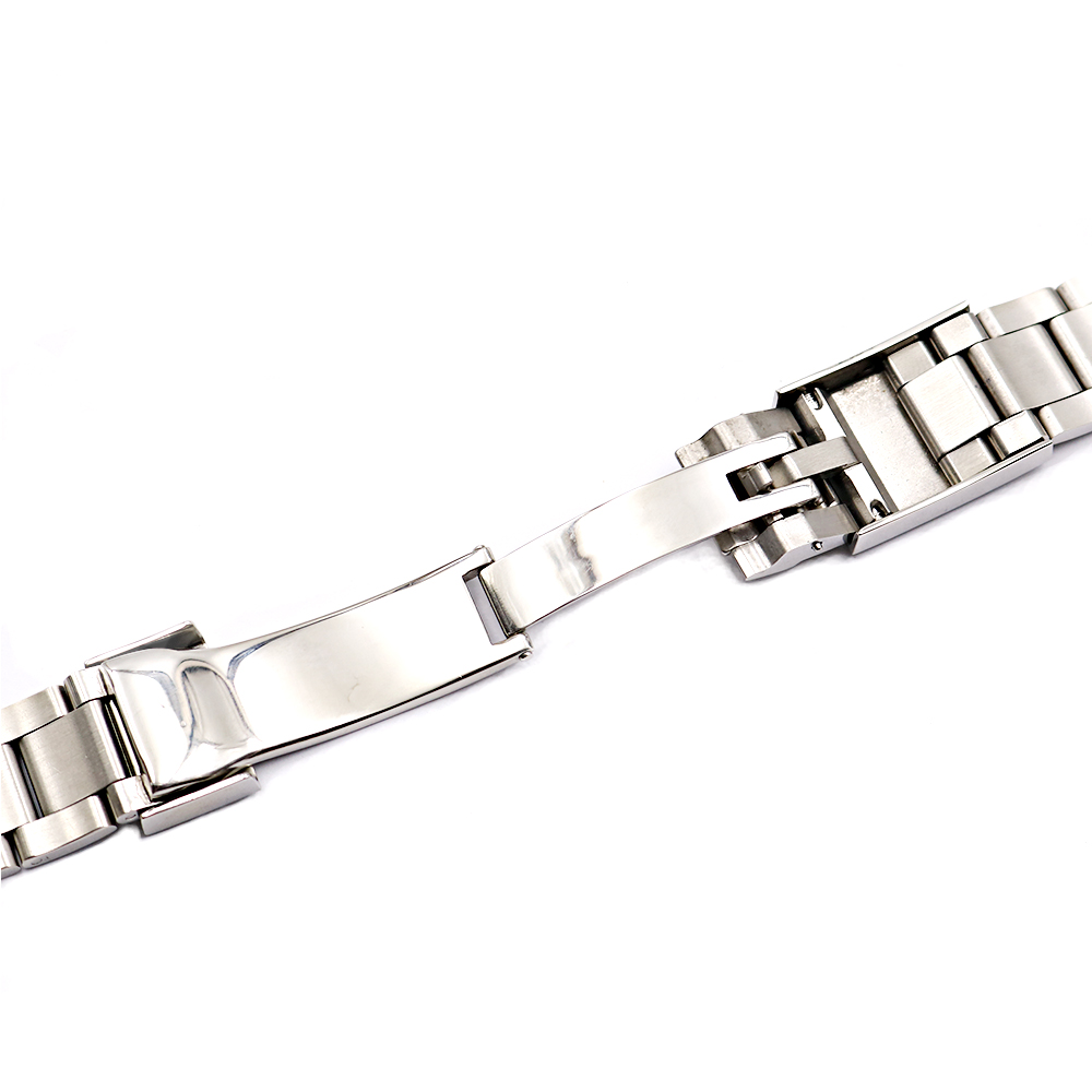 Image 4 - CARLYWET 20 21mm Silver Middle Polished 316L Solid Stainless Steel Watch Band Belt Strap Bracelets For Submariner GMT-in Watchbands from Watches
