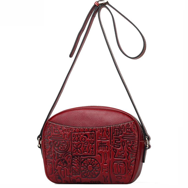 2016 New genuine leather women bag fashion leisure women luxury shoulder messenger bag top quality cowhide embossing small bag