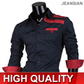 Mens Fashion Cotton Designer Cross Line Slim Fit Dress man Shirts Tops Western Casual S M L XL 8358