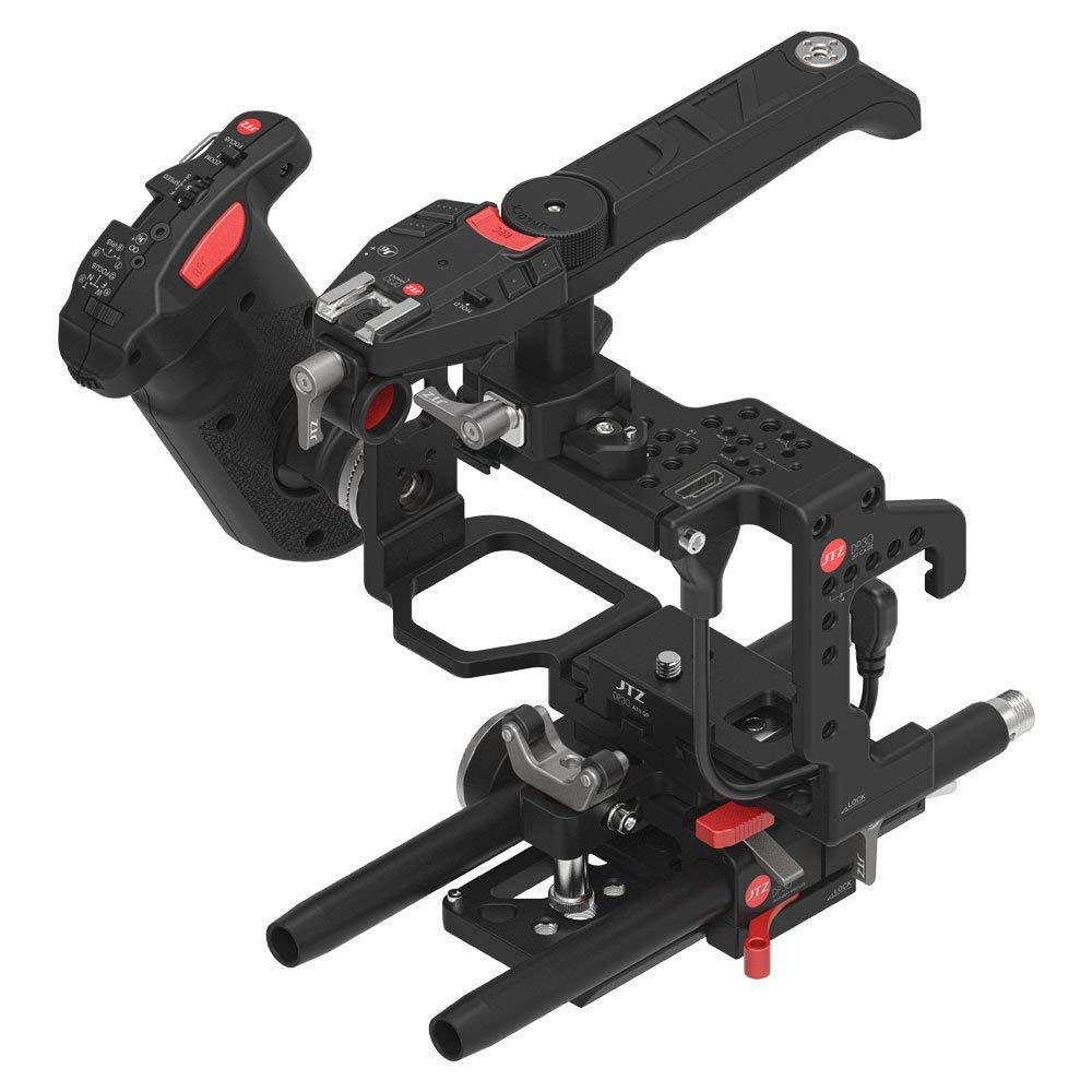 JTZ DP30 Camera Cage Baseplate Rig + Digital Electronic Control Handle Grip Handle for SONY A7 & A7II A7R A7S digitalfoto tilta a7 professional dslr camera rig cage with baseplate wooden handle top handle for sony a7 a7s a7s2 a7r a7r2