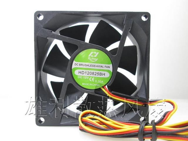 Free shipping.0.30 new HD120825BH 12 v 8025 cm 3 / process the wind cooling fan