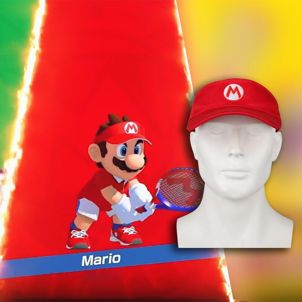 Game Mario Tennis Ace cap Mario Tennis hat adjustable visor sport Golf hat Cosplay costume Accessories