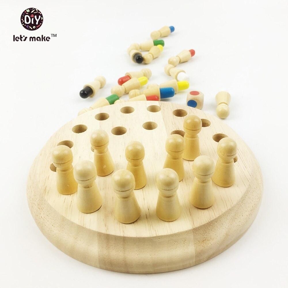 Let's Make Drveni Montessori igračke Materijali bebe Drvene igračke - Izgradnja igračke - Foto 3