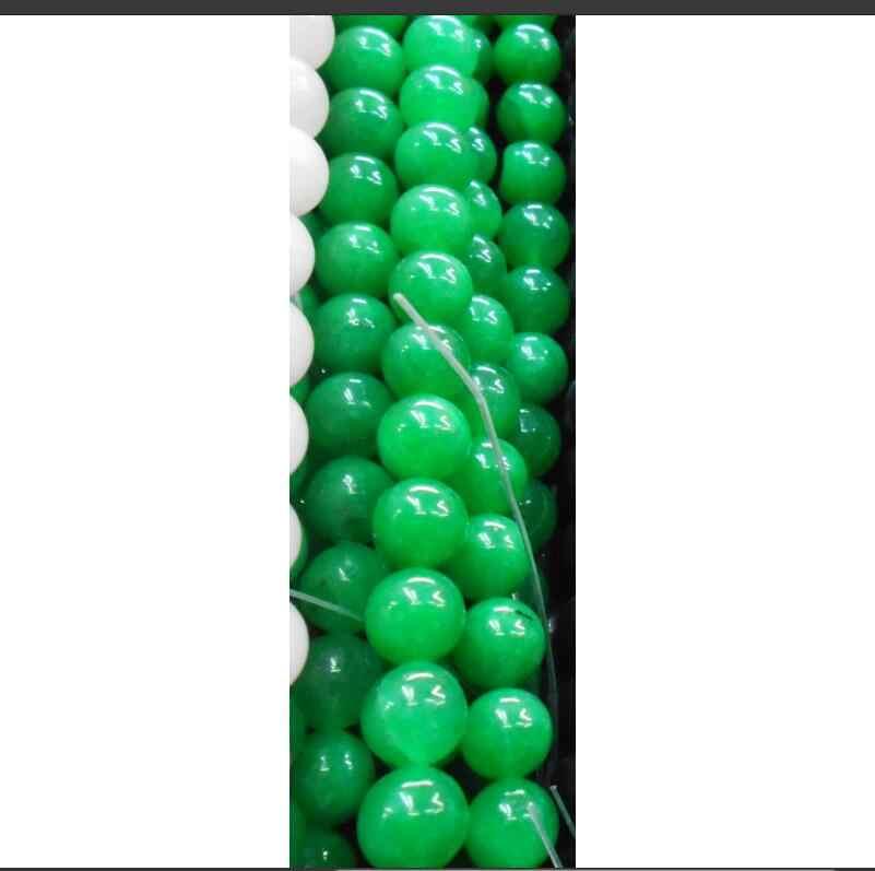 Amethyst Topazสีเขียวขุ่นโกเมนทับทิมไพลินหินธรรมชาติสีเขียวJadeeหลวมลูกปัด6 8 10มิลลิเมตรเลือกขนาด