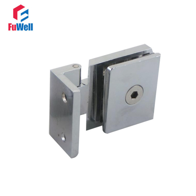Cupboard Cabinet Wall To Glass Door Hinges Pivot Clamp Fit 5 8mm Thickness  Shower Glass