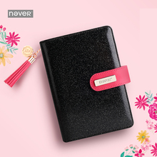 Never mid summer Starry sky Spiral Notebook A6 Leather cover planner organizer agenda diary for girls school stationery store