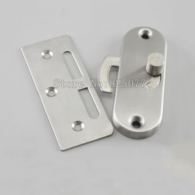5PCS Stainless steel sliding door hook lock For Aluminum alloy Wooden doors Single sided lock Surface mounting JF1192 in Locks from Home Improvement