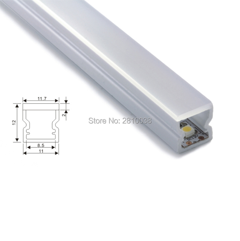 20 X 1M Sets / Lot Super slank aluminium profiel voor ledstrips en - LED-Verlichting